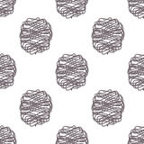 Polka scribble lines vector seamless pattern Royalty Free Stock Photography