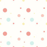 Polka Seamless Pattern. Simple Delicate Spot Pattern. Royalty Free Stock Photos