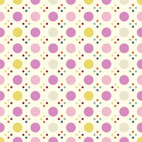 Polka Seamless Pattern. Simple Delicate Spot Pattern. Stock Images