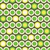 Polka senza cuciture Dot Pattern di retro vettore del MOD nel giallo verde e acido su fondo beige Stampa grafica alla moda di Abs Fotografie Stock Libere da Diritti