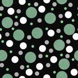 Polka verte, blanche et noire Dot Tile Pattern Repeat Background Photos libres de droits