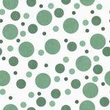 Polka verte et blanche Dot Tile Pattern Repeat Background Images libres de droits