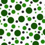 Polka verte et blanche Dot Tile Pattern Repeat Background Photographie stock