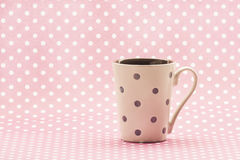 Polkadot cup Stock Photos