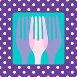 Polkadot cutlery Royalty Free Stock Photos