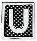 PolkaDot Font BOKSTAV U Arkivfoto