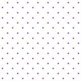 Polkadots púrpura con el fondo blanco del modelo de la repetición Fotografía de archivo libre de regalías
