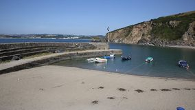 Polkerris Cornwall England near St Austell and Par Royalty Free Stock Photo