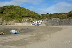 Polkerris harbour, Cornwall, England Royalty Free Stock Photography
