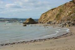 Polkerris strand, Cornwall, England Royaltyfri Bild