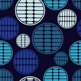 Polki kropki bezszwowy wzór Kolorowe piłki Tekstura paski Zdjęcia Royalty Free