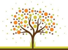 Polki kropki drzewo Obraz Royalty Free