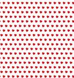 Polki kropki serc bezszwowy wzór obraz royalty free