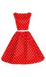 Polki kropki suknia Obraz Royalty Free