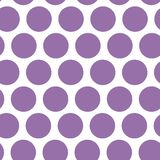 Polki kropki tło, bezszwowy wzór Purpury kropkują na białym tle wektor Obraz Stock