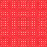 Polki kropki tło, wektorowy bezszwowy wzór Biel okręgi na czerwonym tle Dla projekta tkanina obrazy stock
