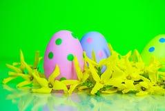 Polki kropki Wielkanocni jajka Obrazy Stock