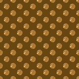 Polki kropki złoty bezszwowy wzór Fotografia Royalty Free