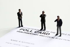 Poll card model candidate A Stock Images