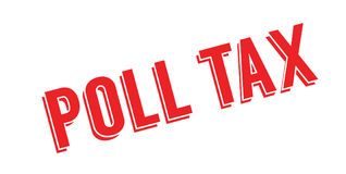 Poll Tax rubber stamp Royalty Free Stock Photo