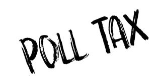Poll Tax rubber stamp. Grunge design with dust scratches. Effects can be easily removed for a clean, crisp look. Color is easily changed Stock Photo