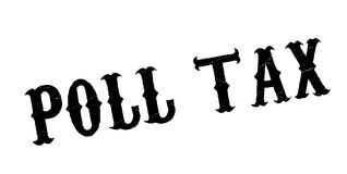 Poll Tax rubber stamp. Grunge design with dust scratches. Effects can be easily removed for a clean, crisp look. Color is easily changed Stock Images