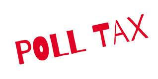 Poll Tax rubber stamp. Grunge design with dust scratches. Effects can be easily removed for a clean, crisp look. Color is easily changed Stock Photos