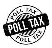 Poll Tax rubber stamp. Grunge design with dust scratches. Effects can be easily removed for a clean, crisp look. Color is easily changed Stock Photography