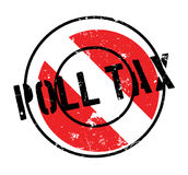Poll Tax rubber stamp Royalty Free Stock Image