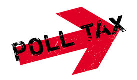 Poll Tax rubber stamp. Grunge design with dust scratches. Effects can be easily removed for a clean, crisp look. Color is easily changed Stock Image