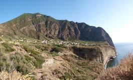 Pollara,盐沼,西西里岛,意大利小岛  免版税图库摄影
