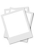 Pollaroid film frames. Blank polaroid film frames with place to your picture Royalty Free Stock Photography