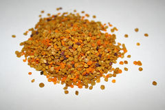Pollen. Bee pollen over the white Stock Images