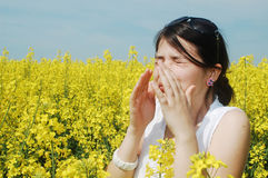 Pollen allergy stock photography