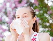 Pollen allergy. Is a seasonal or regional allergic kind royalty free stock image