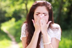 Pollen allergy stock images