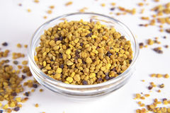 Pollen. Bee pollen on a white background Royalty Free Stock Photography