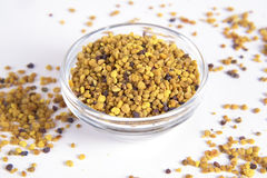 Pollen. Bee pollen on a white background Stock Image