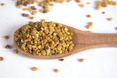 Pollen. Bee pollen on a white background Royalty Free Stock Images
