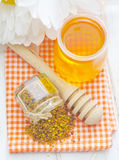 Pollen et miel Photos libres de droits