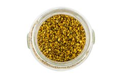 Pollen in a glass pot Stock Photography