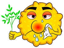 Pollen with hay fever Stock Photos