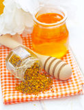 Pollen and honey Royalty Free Stock Images