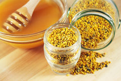 Pollen and honey Stock Photo