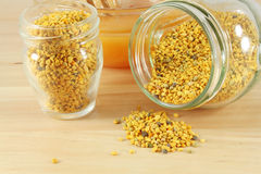 Pollen and honey Stock Photos