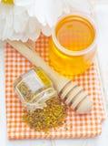 Pollen i miód Zdjęcia Royalty Free