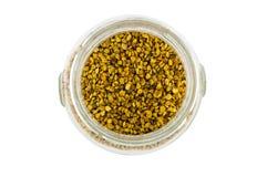 Pollen w szklanym garnku Fotografia Stock