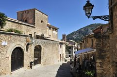 Pollenca. The historical centre of Pollenca in Mallorca royalty free stock photos