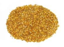 Pollenpartiklar i träsked Royaltyfri Fotografi