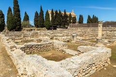 Pollentia罗马废墟  免版税库存图片